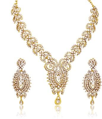 Atasi International Alloy Jewel Set(Gold) at flipkart