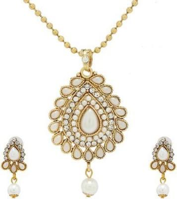 Luxor Alloy Jewel Set(White, Gold)  available at flipkart for Rs.369