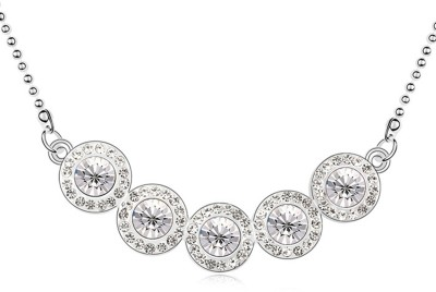 Atasi International Crystal Rhodium Plated Metal Necklace  available at flipkart for Rs.275