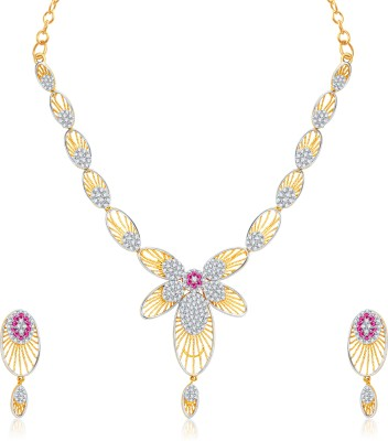 VK Jewels Alloy Jewel Set(Multicolor) at flipkart
