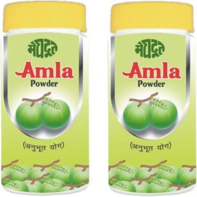 KHADI MEGHDOOT AYURVEDIC AMLA POWDER 100 GM PACK OF 2(200 g)