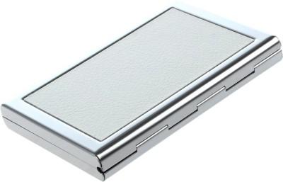 Menzy Id & Banks Credit Debit Or Atm Card Holder Wallet For Men Women 6 Card Holder(Set of 1, Silver, White)