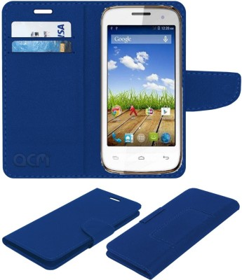 ACM Flip Cover for Micromax Bolt A065(Blue, Cases with Holder, Artificial Leather)