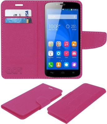 ACM Flip Cover for Honor Holly(Pink, Cases with Holder, Artificial Leather)