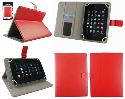Emartbuy Wallet Case Cover for Dell Venue 7 3740(Red Executive Folio)