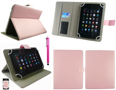 Emartbuy Wallet Case Cover for Binatone HomeSurf 744(Baby Pink Plain, Charging Case, Artificial Leather)