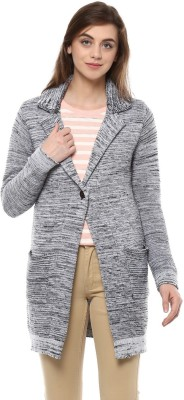 People Acrylic Blend Self Design Coat at flipkart