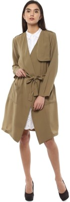 People Polyester Solid Coat at flipkart