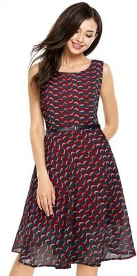 Bewakoof Women T Shirt Maroon Dress
