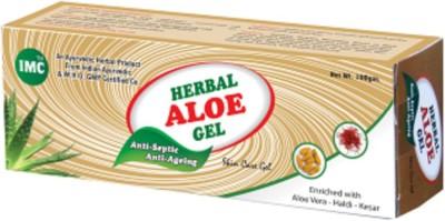 IMC Herbal Aloe Gel Enriched with Aloevera,Haldi And Kesar Antiseptic Gel(100 g)