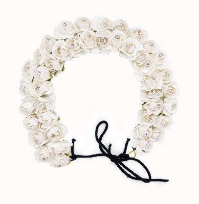 Majik Unique Gajra Hair Accessories | Hair Accessories For Girls Wedding Gajra (Veni) For Easy Hair Styling Bun(White)