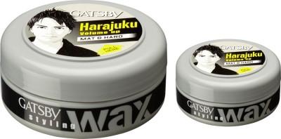 Gatsby Hair Styling Wax Mat & Hard (75g+ 25g) - Home & Travel Pack Hair Styler
