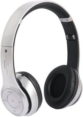 Like Star S460 Super Sound Wireless Bluetooth Headphone With|| FM || AUX Compatible|| Micro SD Card Slot|| Music & Calling controls Bluetooth, Wired Headset with Mic(Silver, Over the Ear)