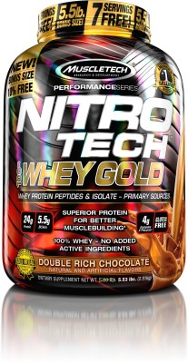 Muscletech Performance Series Nitrotech 100% Whey Gold Whey Protein(2.51 kg, Double Rich Choclate)