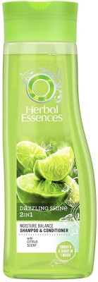 Herbal Essences Dazzling Shine 2in1 Moisture Balance Shampoo & Conditioner(400 ml)