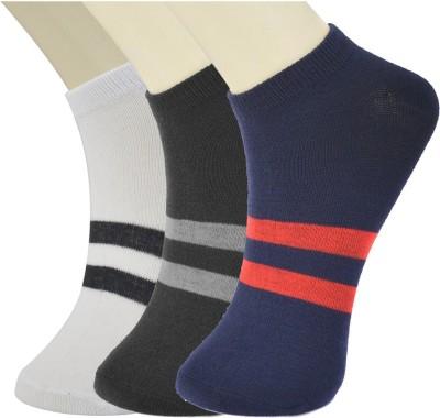 Novasox Men's Striped Ankle Length Socks(Pack of 3)