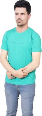 FABLUXURY Solid Men's Round Neck Green T-Shirt