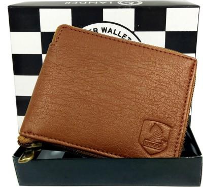 LANDER Boys Tan Genuine Leather Wallet 5 Card Slots