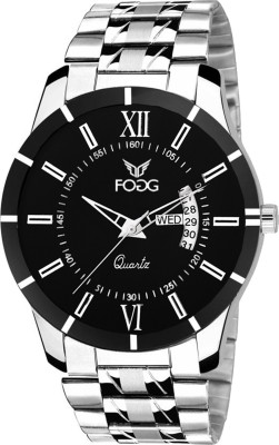Fogg 2046-BK Day And Date Analog Watch For Men