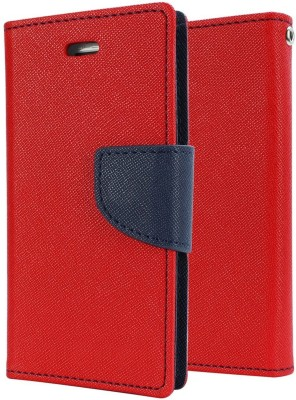 REYTAIL Wallet Case Cover for Motorola Moto E3 Power(Red, Shock Proof, Flexible Case)