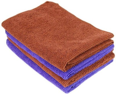 Sukot 4 PCs Set Super Soft Microfiber Cloth Car Bike Wash Clean Home & Office Cleaning Size - 30cmx30cm Wet and Dry Microfibre Cleaning Cloth(Pack of 4)  available at flipkart for Rs.255