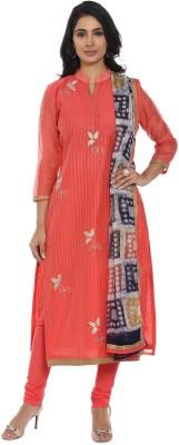 Soch Cotton Embellished Salwar Suit Dupatta Material(Un-stitched)