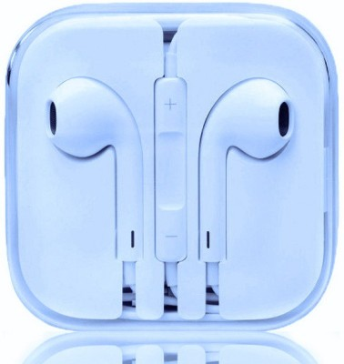 BUY SURETY Best Buy stereo dynamic sound Wired Headset with Mic(White, In the Ear)