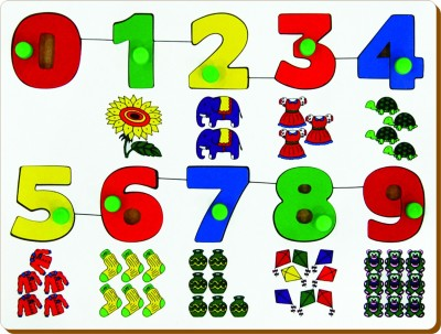Miss & Chief Number With Picture To Count Puzzle(Multicolor)