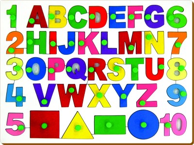 Miss & Chief English Alphabets With Numbers and Shapes(Multicolor)