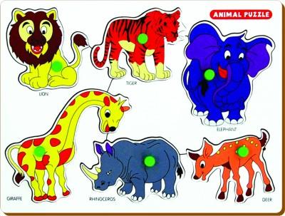 Miss & Chief Animals Puzzle(Multicolor)