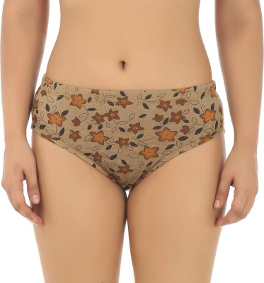 Fashion Comfortz Women Hipster Brown Panty(Pack of 6)