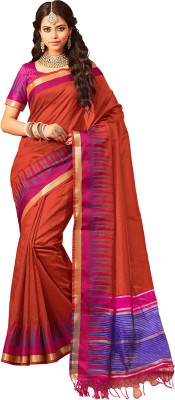 M.S.Retail Self Design Kanjivaram Silk Saree(Orange)