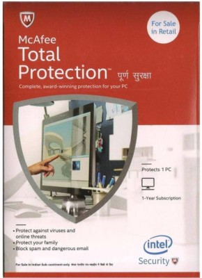 mcafee total security 1pc 1year McAfee Total Protection- 1 User, 1 Year CD/DVD , Latest Version