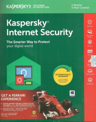 KASPERSKY Internet Security 2017 1 Pc 1 Year