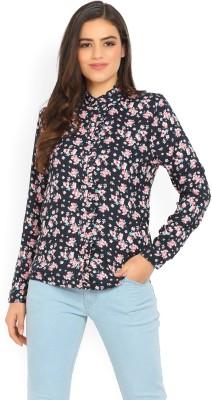 Park Avenue Women Floral Print Casual Beige Shirt