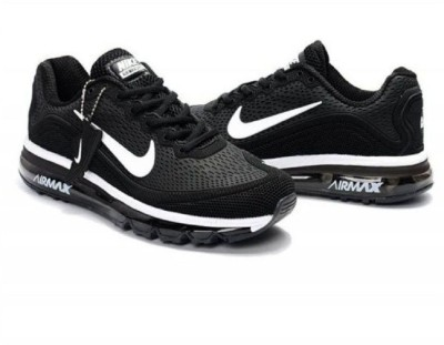 49% OFF on Nike shoes Airmax 2018 Black Running Shoes For Men(Black) on  Flipkart  f5e899df3