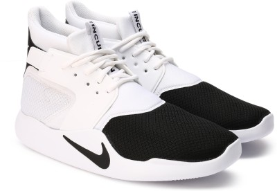 Nike INCURSION MID Basketball Shoes For Men(Black, White) 1