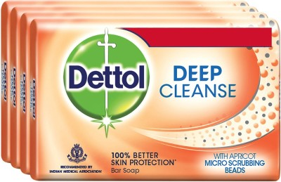 Dettol Deep Cleanse Soap (500GM, Pack of 4)