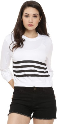 People Casual Full Sleeve Striped Women