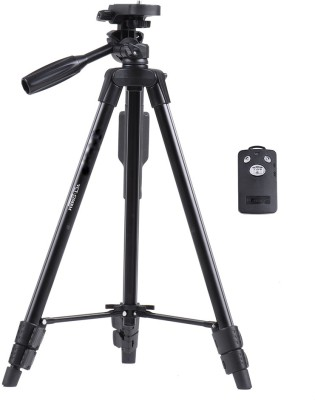 Unifree VCT-5208 Professional Lightweight Aluminum Portable Tripod Stand 3 Way Head For Digital Camera Camcorder, Nikon Sony Canon DSLR, GoPro, Action Camera, and Smartphone with Mobile holder Tripod, Tripod Kit, Tripod Ball Head(Black, Supports Up to 1500 g)  available at flipkart for Rs.2999