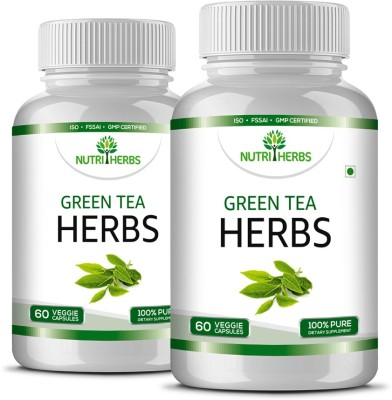 Nutriherbs Green Tea Herbs - 60 Capsules - (Pack of 2)(120 No)