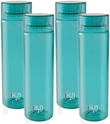 Cello h2o fridge water bottle 1000 ml Bottle(Pack of 4, Green)