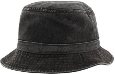 6f5f5a5a497c8 Kaarq Black Fisherman Bucket Denim for Men Cap