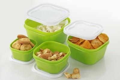 Flipkart SmartBuy Storewell  - 2400 ml, 1400 ml, 800 ml, 400 ml Polypropylene Grocery Container, Fridge Container(Pack of 4, Green)