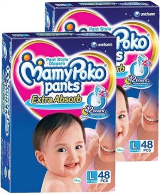 MamyPoko LARGE DIAPER PACK OF 2 (96PCS.) - L(96 Pieces)