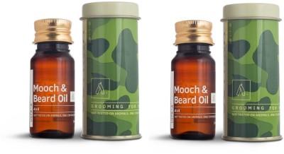 Ustraa Mooch & Beard Oil 4X4 - Set of 2 Hair Oil (70 ml) Hair Oil(70 g)
