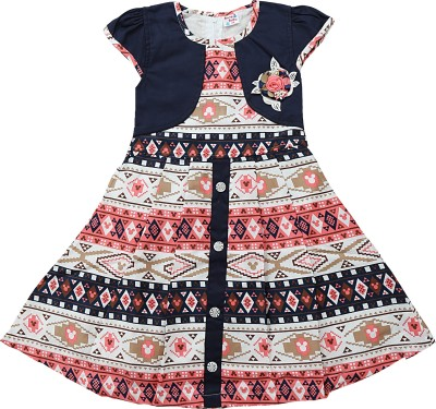 e1975961b 58% OFF on Bang Baby Girls Midi Knee Length Party Dress(Multicolor ...