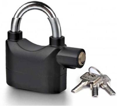 Gentle E Kart AntiTheft Alarm Security System Door Motor Bike Bicycle padlock Safety Lock(Multicolor)