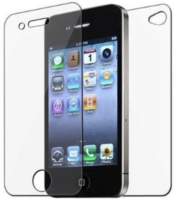 EASYBIZZ Front and Back Tempered Glass for Apple iPhone 4s(Pack of 1)