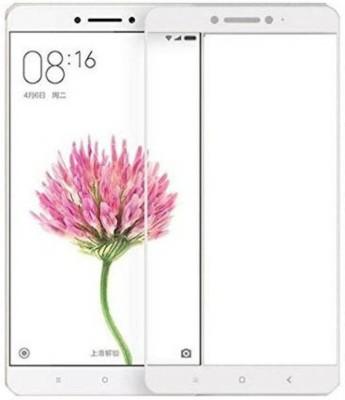 TEZDEAL Screen Guard for Xiaomi Redmi MI Max / Xiaomi Mi Max Prime Full Screen Coverage - White Colour
